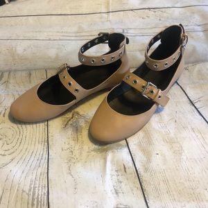 Rebecca Minkoff Rachel Grommets Ballet Flat 7 Nude